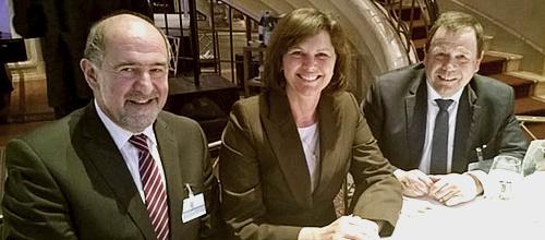 Landrat Willibald Gailler, Ministerin Ilse Aigner, Reinhold Kühne